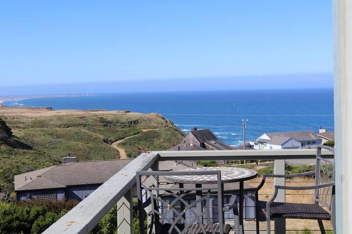 Pelican View in Irish Beach with 180 degree views!