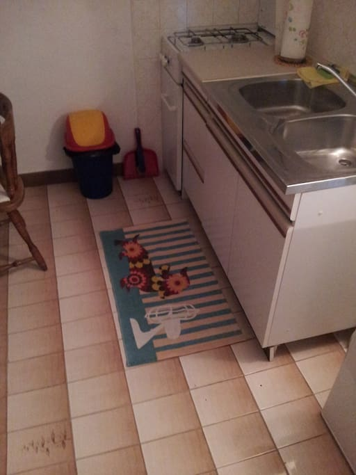 Kitchen is equipped for cooking and dining