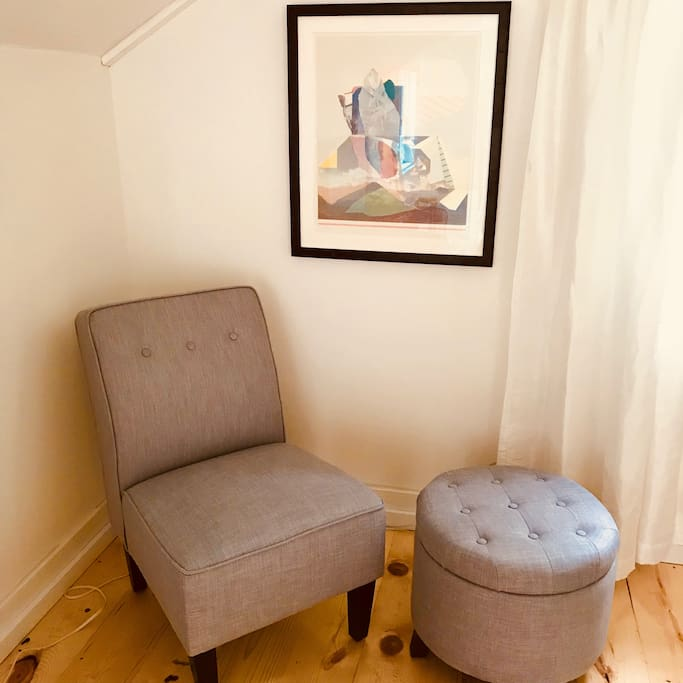 Comfy corner chair for relaxing with a good book!