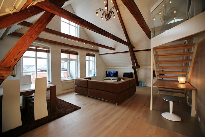 Beautiful loft apt. in Stavanger city centre!
