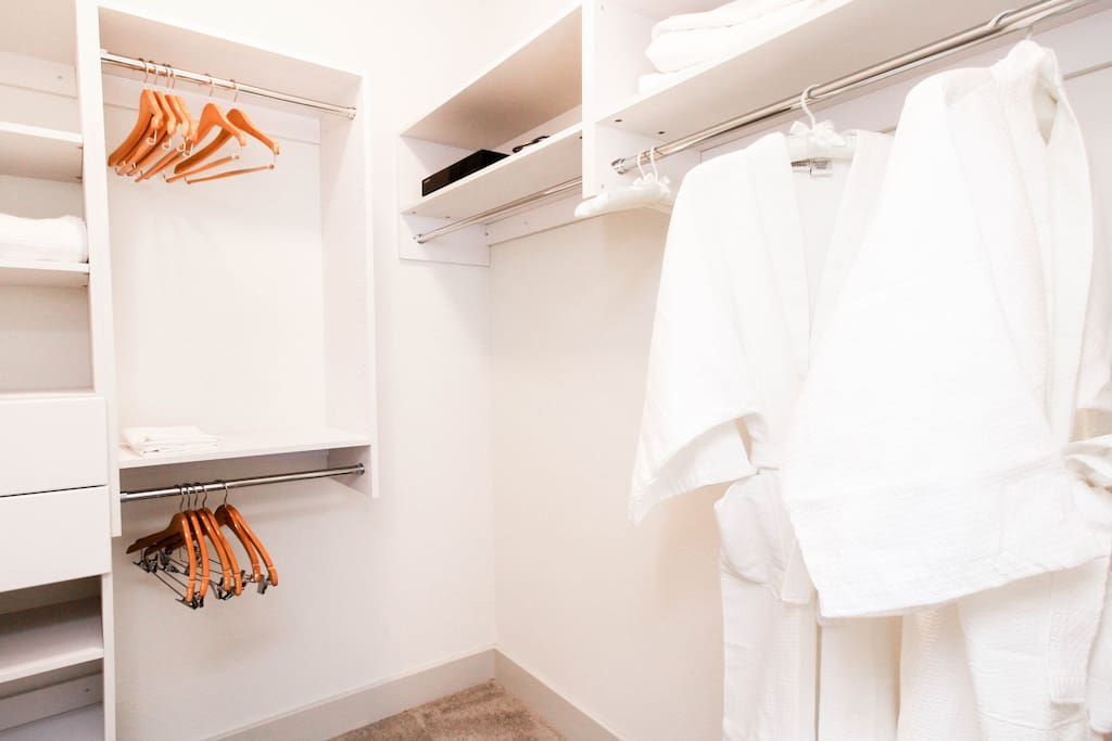 This is your dream closet with all of the space and storage that you need