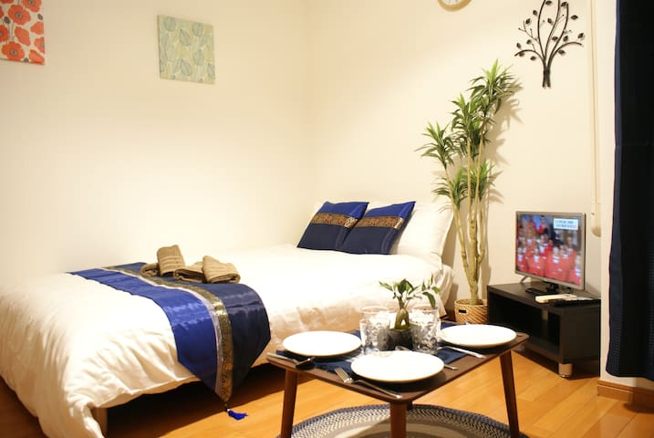 Side of JR Namba sta OCAT 1min!!!+Free WIFI and TV - Osaka-shi - Appartement