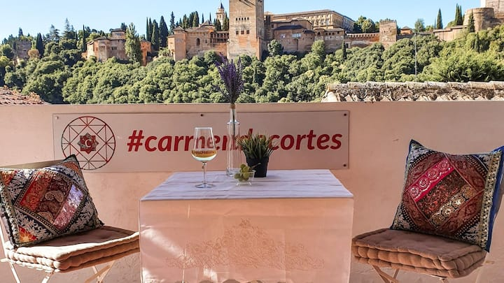 Casa jardín vistas Alhambra. Lorca