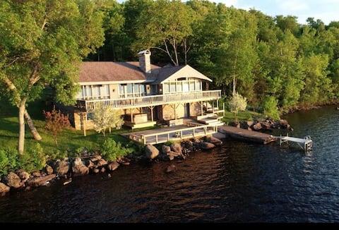 Summer Sunset Lake House