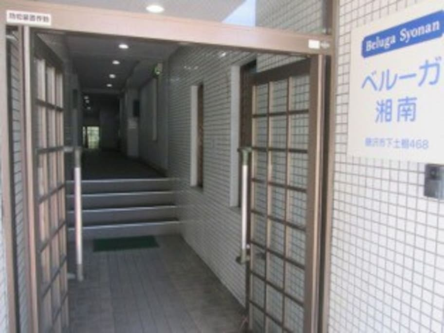 THE ENTRANCE OF THE APARTMENT