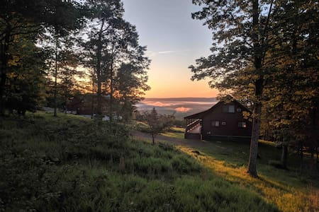 Amish- Made Chalet Log Home- 50 Mile View