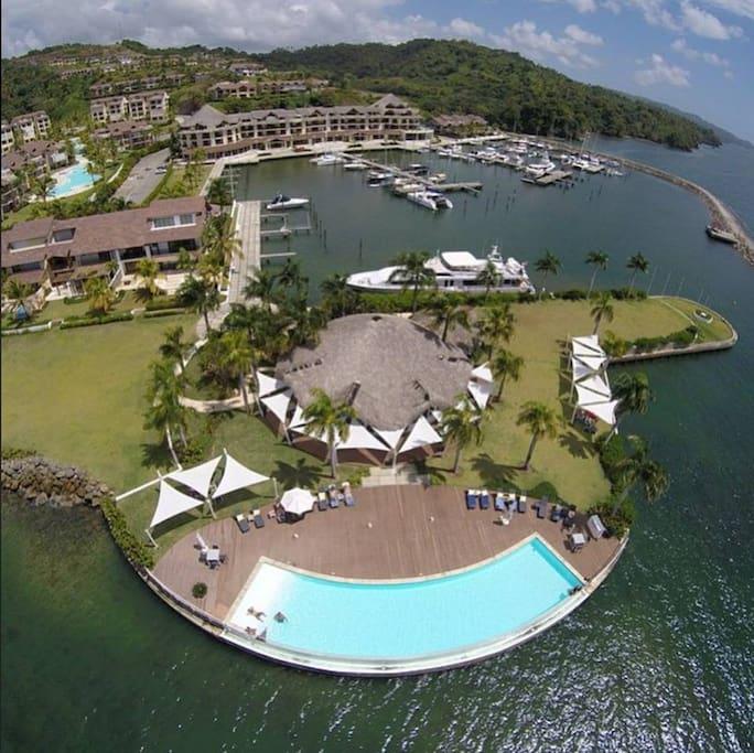 Puerto Bahia Marina donde esta ubicado Tariro