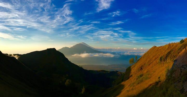 Mt Batur and Mt Abang View