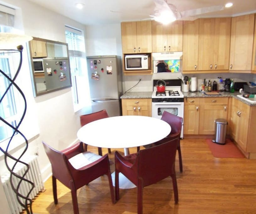 the formal dining (huge eat in kitchen) conveniently by the fully equipped kitchen with anything you'll need and more! instructions on all appliances will be provided
