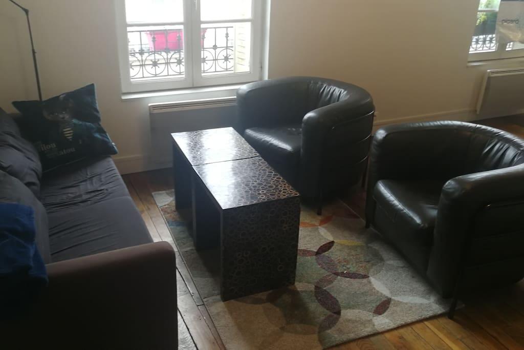 Coin canapés et fauteuil