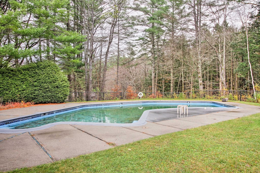 A seasonal community pool is the perfect place to soak up the sun in the summer.
