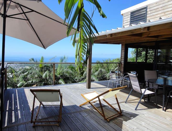 Lounge des hauts 2/vue panoramique/Ocean  Montagne