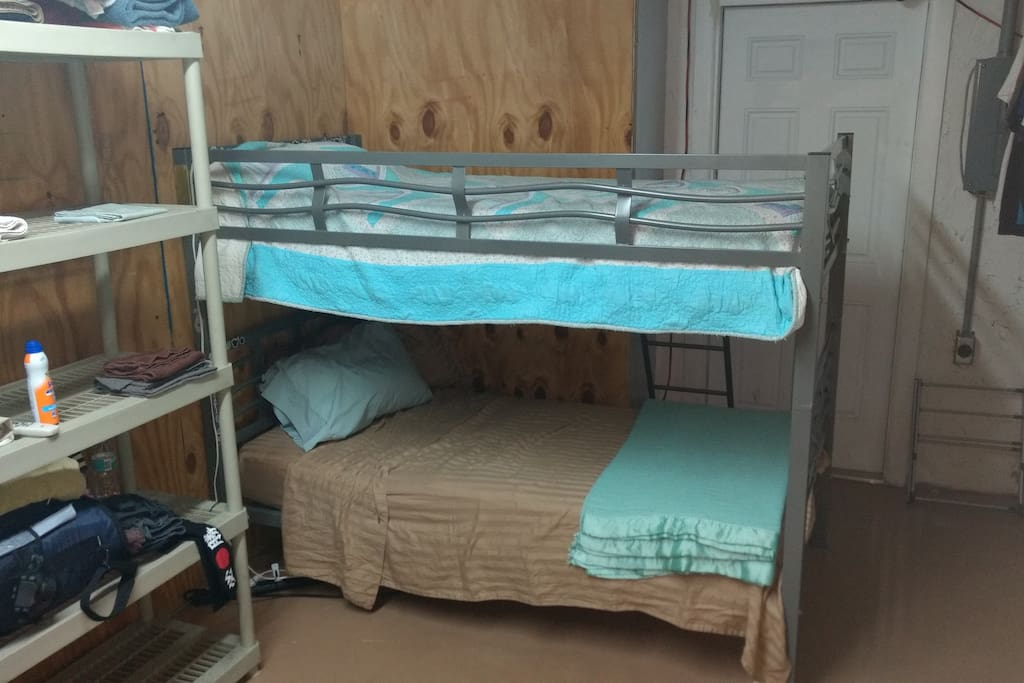 Bunk beds north end.