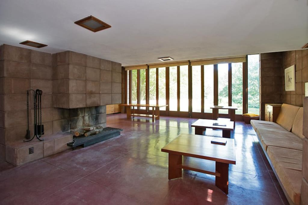Frank Lloyd Wright Usonian Home Houses For Rent In Galesburg Michigan United States