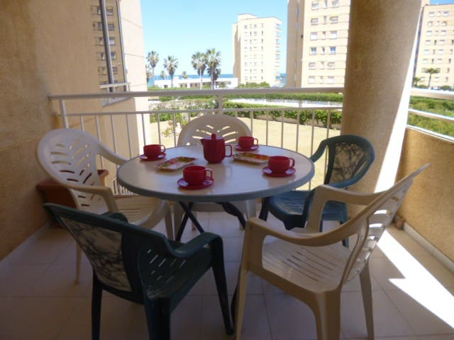 Frente Playa Urbanova, bonito apartamento, piscina - Urbanova - Daire