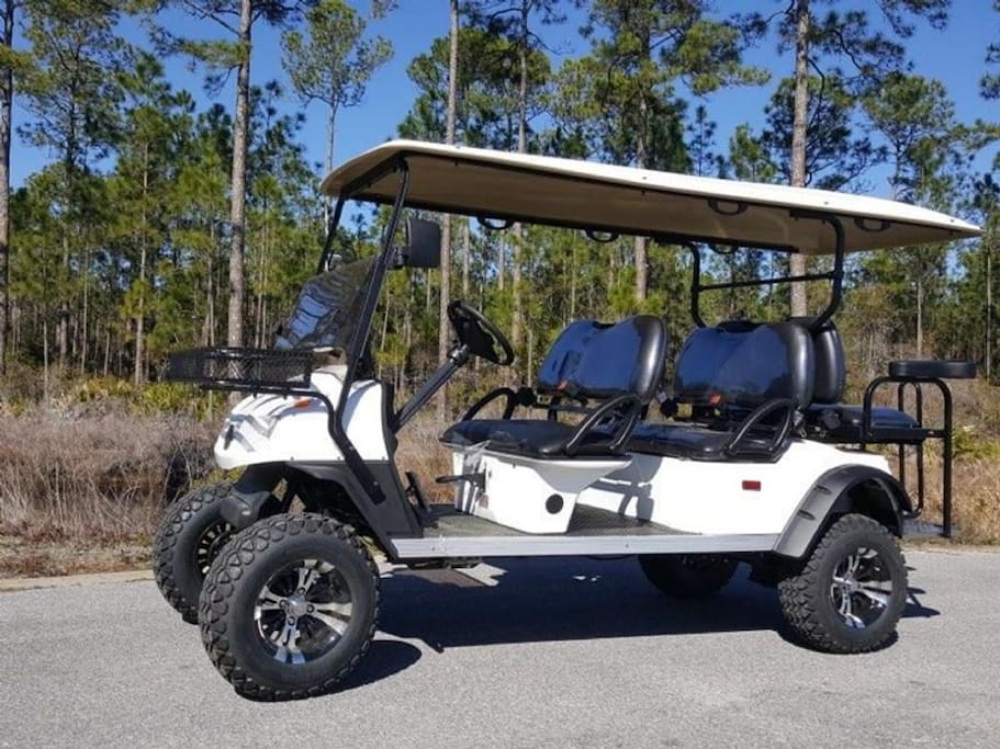Free golf cart included with rental!