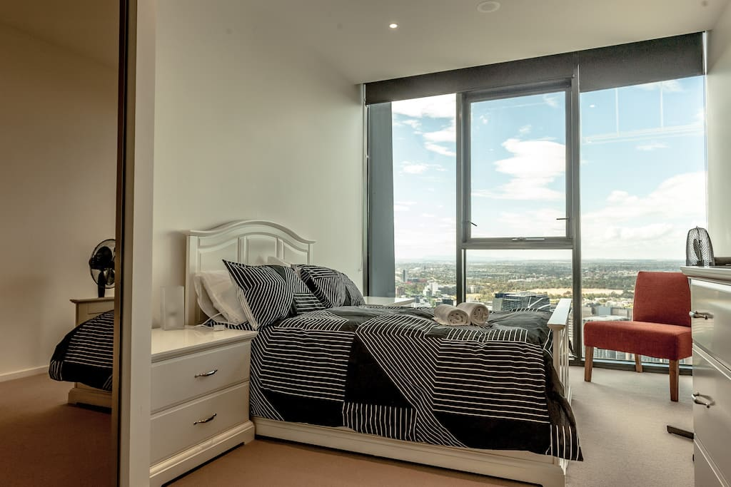 Master Bedroom with breathtaking views, built in cupboards and ensuite