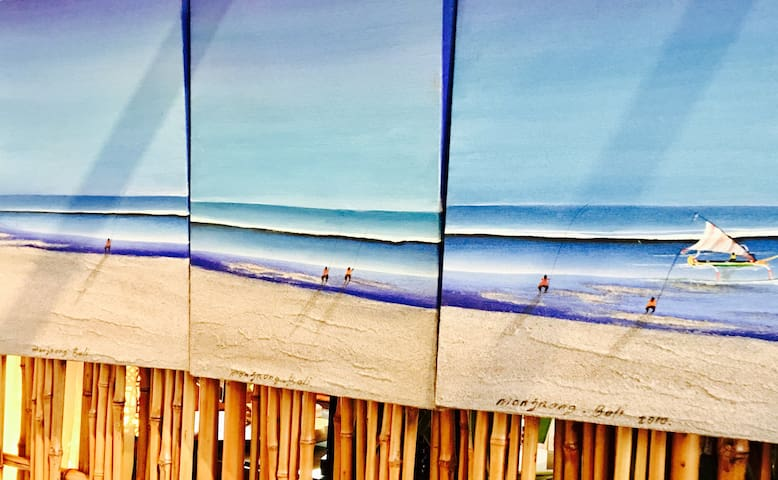 Bali Beach - Oil on Canvas.