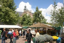 Noordermarkt.  Market.Every Monday morning and every Saturday.