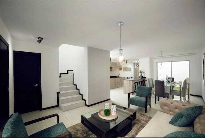 Two floor house in private residential complex