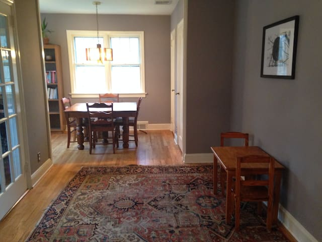 """Dining room and """"tiny table"""""""