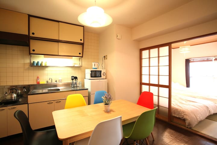 Only 7 min from Hakata station! Max 9 people!!