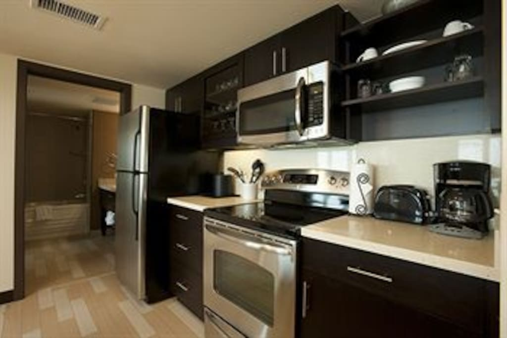 Kitchen | Stove | Refridgerator | Microwave | Coffee maker | Example only