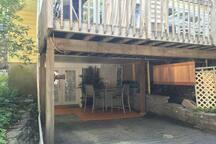 under deck entrance