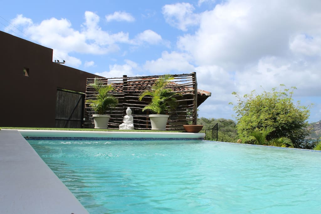 Enjoy the pool that show cases the panoramic views of the bay.