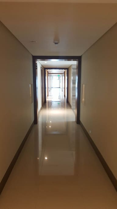 The hallway of the condominium