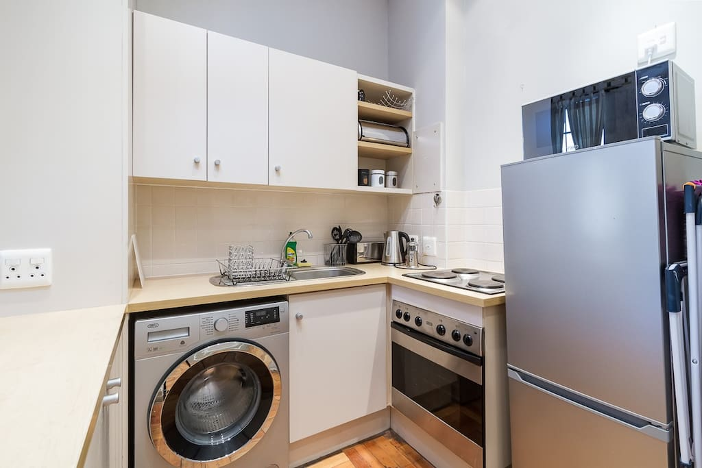 Compact but functional kitchen equipped with all the essentials
