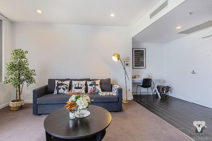KOZYGURU   South Brisbane   Kozy Home Feel   1 Bed + Free Parking