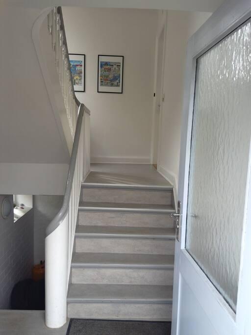 Trappe til 2. sal