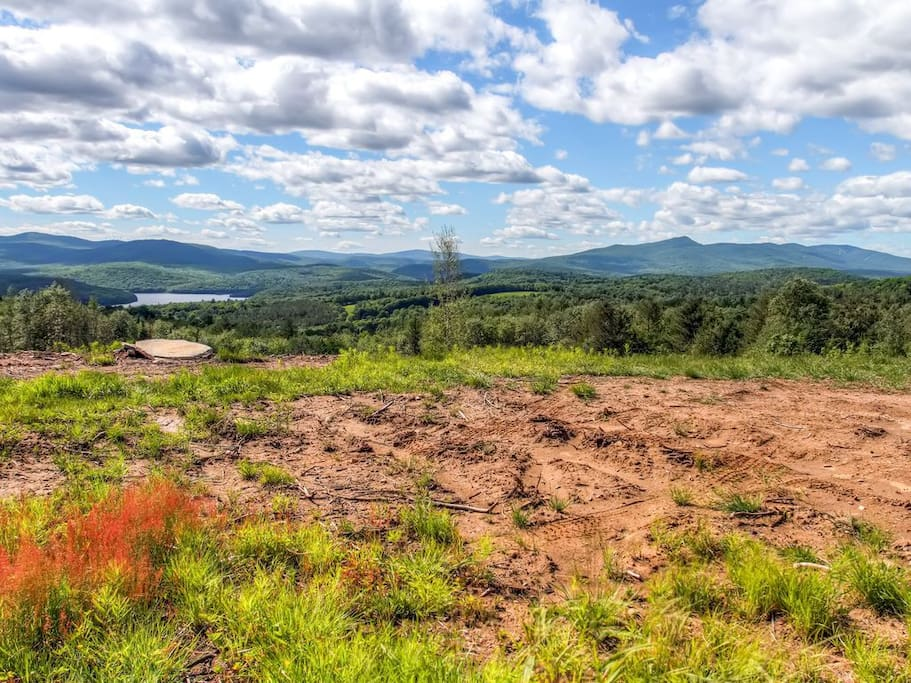 The top of the property, 2300 ft. above sea level. A must see.Enter 1/4 mile up the road on the right by the timber landing.