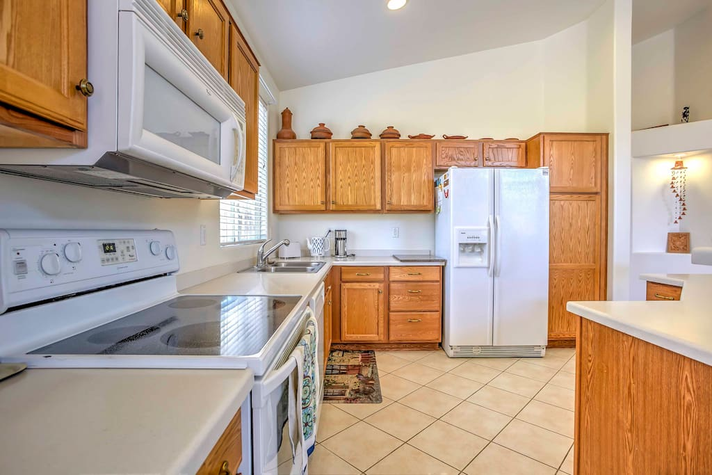 Make use of this fully equipped kitchen during your stay for tasty home-cooked meals.
