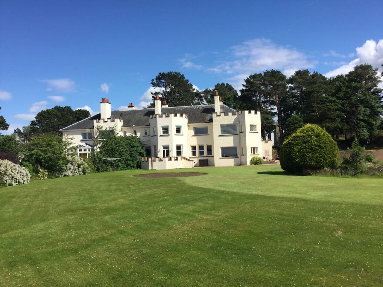 Duncrievie in its expansive gardens has a prime position overlooking the Moray Firth.