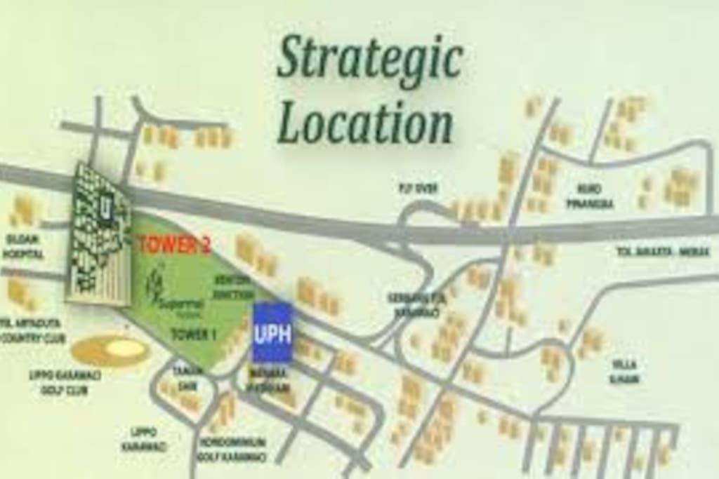 Map Location in Lippo Karawaci CBD