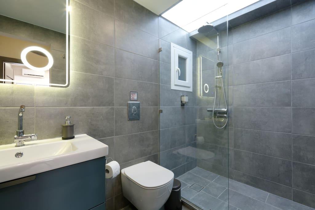 Modern and luxury bathroom.