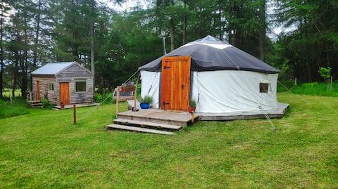 Woodland Yurt near Edinburgh