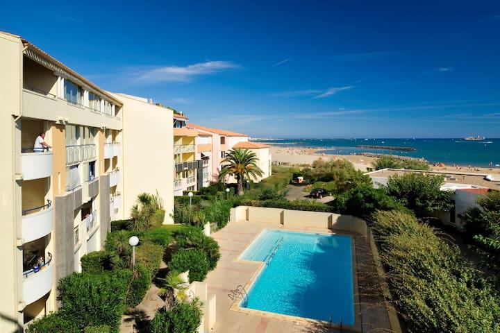 Appartement confortable en centre-ville à 50m de la plage !