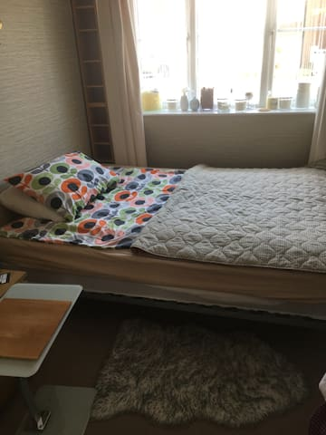 Kingsize (Ikea) bed with private bathroom