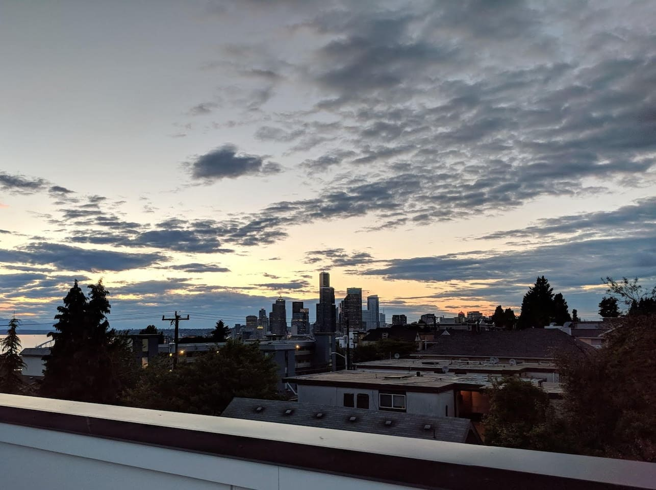 View of downtown Seattle from the rooftop deck!