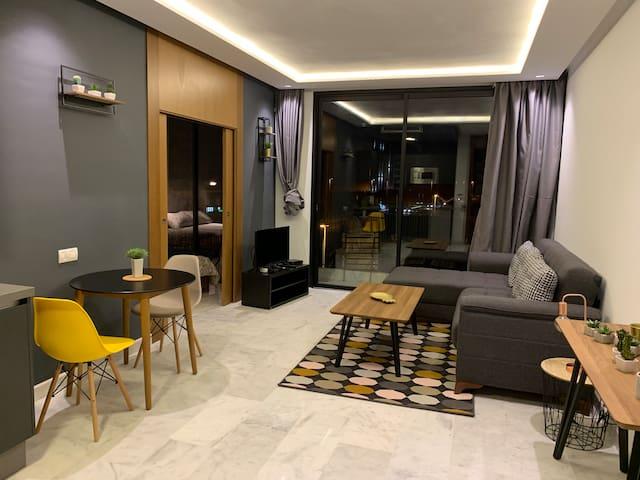 Sunny Premium B Living 13 et terrasse