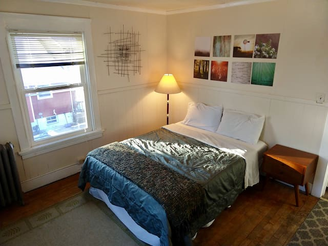 Bright Wingra Room w/ Queen Bed in Central Madison
