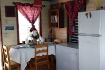 Main House dining area (new refrigerator & ice freezer)