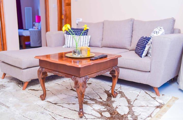 Modern 1 Bedroom APT 5 min to Naivasha Town w/wifi