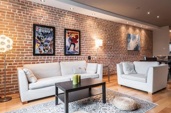 Cozy luxury apartment on trendy Plateau Mont-Royal - Montreal - Apartamento