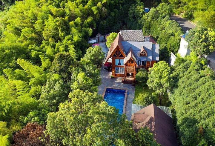 [宁波 芫舍民宿]竹林中的城堡,童话般的世界……原生态木屋
