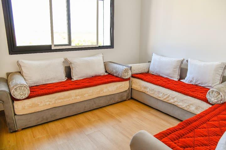 Chambre 1  (avec 3 lits 1 place)