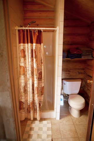 Bathroom in Sheep Mountain Cabin